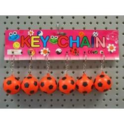 Porte clé ballon foot 4 cm (x12)