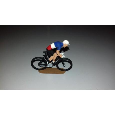 cycliste métal plat peint, position grimpeur