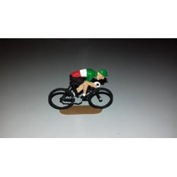 Cycliste métal plat sprinteur peint