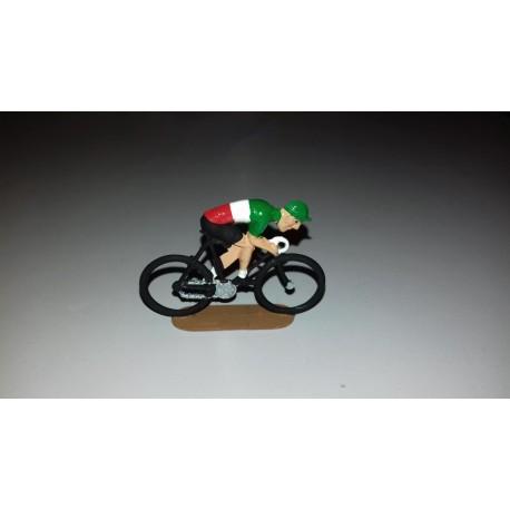 cycliste métal plat peint, position sprinteur