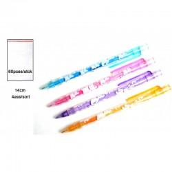 Crayon pousse mine 15 cm + gomme (x60)