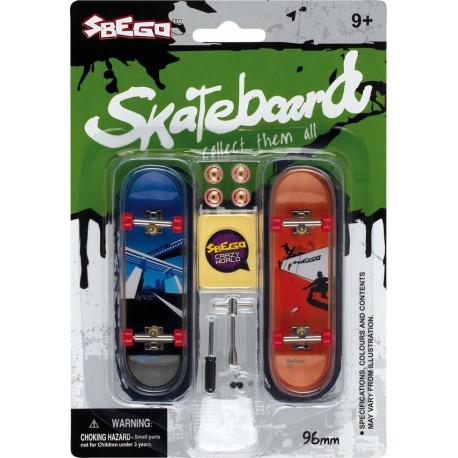 skates à doigt axe métal (x2) avec autocollants et pièces de rechange