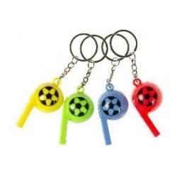 Porte clé sifflet ballon de foot 6 cm