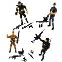 Soldat articulé 11cm + accessoires
