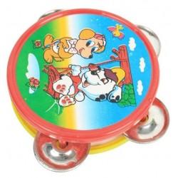 Tambourin décoré 8 cm