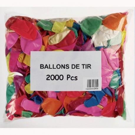 Ballons de tir (x2000), anti-statique, 20 cm diamètre environ gonflé, Kim-Play Cofalu