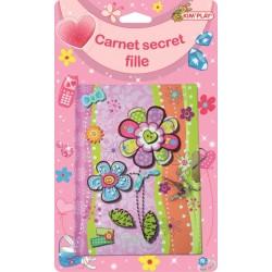 Carnet secret filles avec serrure et 2 clés