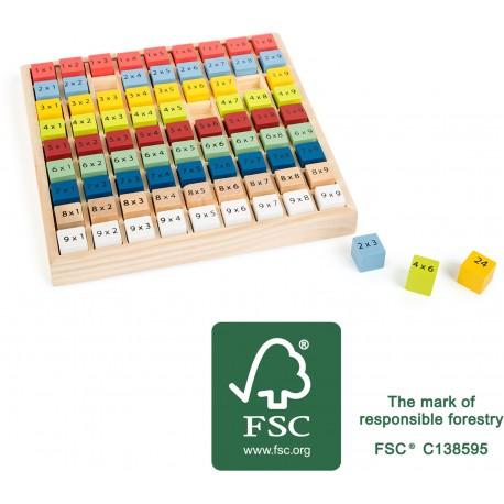Table à calcul «Multiplication» en bois