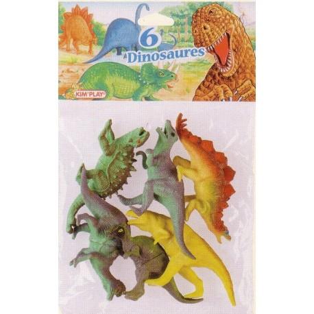 Dinosaures grand modèle (x6), dimensions 13 cm environ