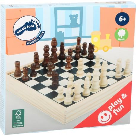 Jeu d'échecs en bois, format voyage