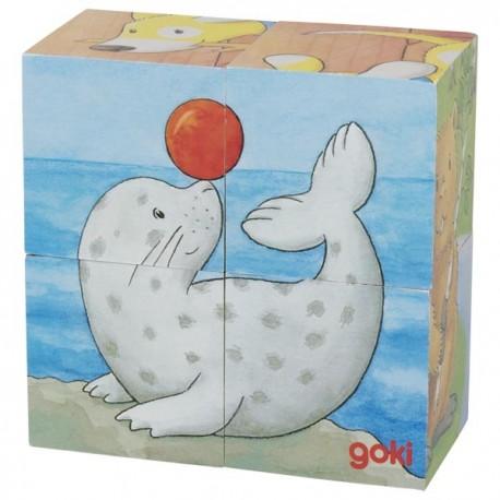 Puzzle cube animaux 2