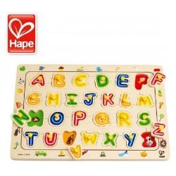 Puzzle en bois: lettres à placer