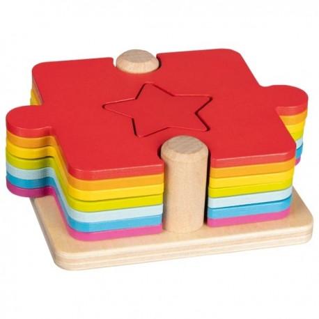 Puzzle à empiler en bois, Goki