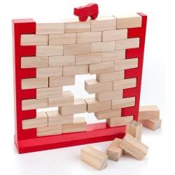 Le mur qui tombe, jeu en bois