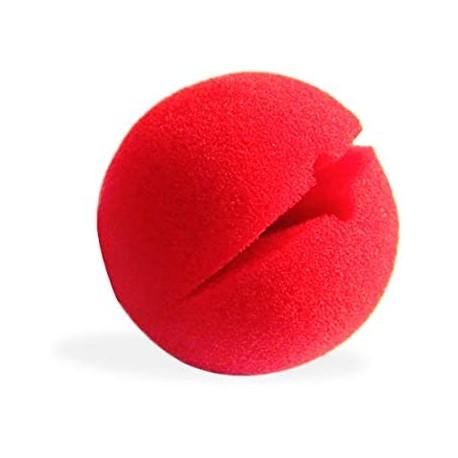 Nez de clown en mousse, 5 cm de diamètre
