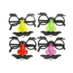 Lunettes farce: nez et moustache 11 x 9 cm