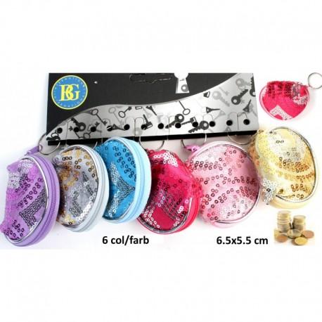 Porte Monnaie Zip Glitter 6,5 x 5,5 cm