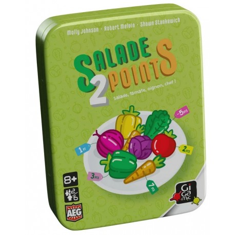 Salade 2 points, Gigamic , un jeu de collection simple amusant familial