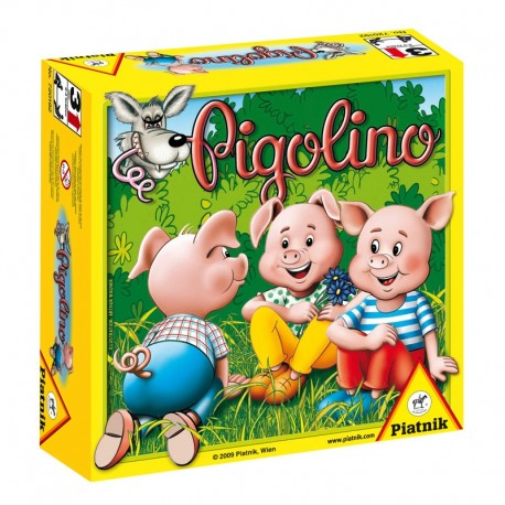 Pigolino, Piatnik Editions : un jeu de hasard avec 3 gros dés et des cochons