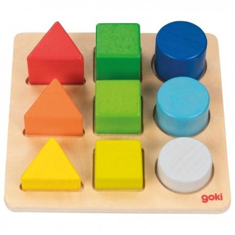 Formes en emboiter : Assortir les formes et les couleurs, Goki