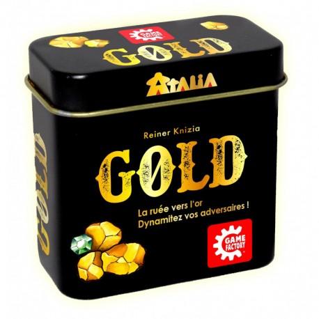 Gold : Retournez 2 cartes. Trouvez de l'or. Déjouez vos adversaires et soyez celui qui extrait le plus d'or de la mine !