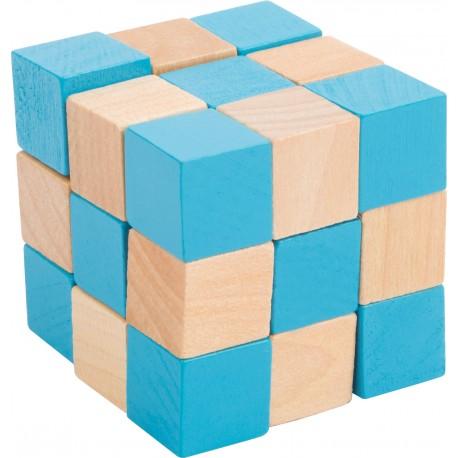 Casse tête en bois, boite carton, cube