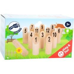 Quilles en bois, jeu du viking chiffres