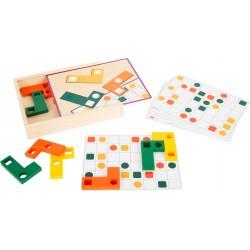 Jeu éducatif de puzzle de logique en bois Tétris