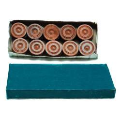 20 pions de dames en bois, 32 x 8 mm, couleur brun