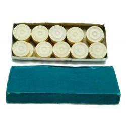 20 pions de dames en bois, 32 x 9 mm, couleur blanc