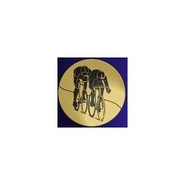 Médaille couleur or, Cyclisme avec ruban tricolore