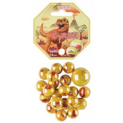 20 billes + 1 calot, T-Rex
