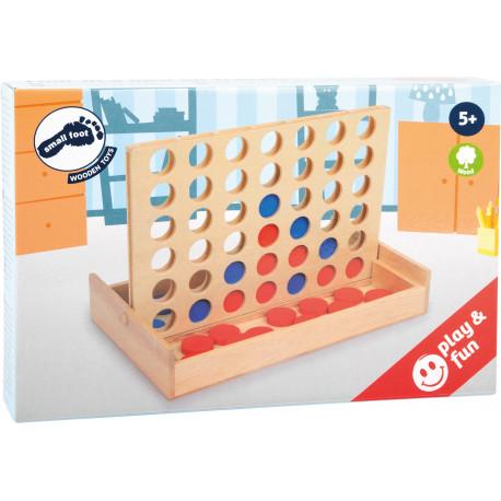 Align'4 en bois : soyez le premier à aligner 4 pions de la même couleur