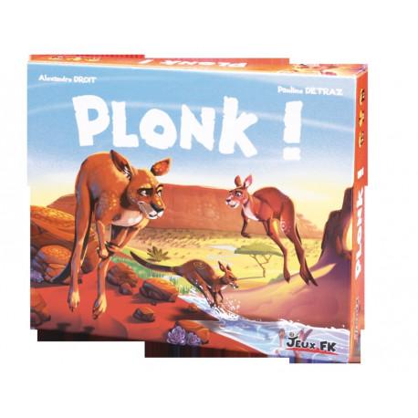 Plonk, jeux FK : Bluffez pour avancer vos kangourous, mais sans vous faire démasquer !