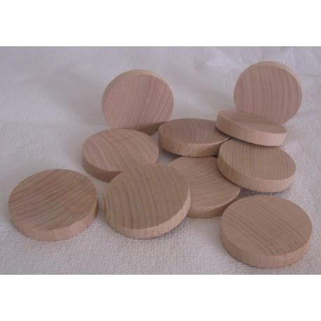 10 palets en bois (hêtre) pour billard Hollandais, plat, diamètre 3,5 cm