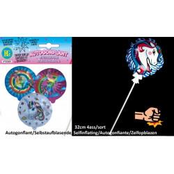 Ballon licorne autogonflant 32 cm
