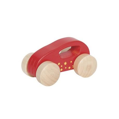 Voiture en bois 1er âge rouge