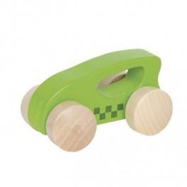 Voiture en bois 1er âge verte