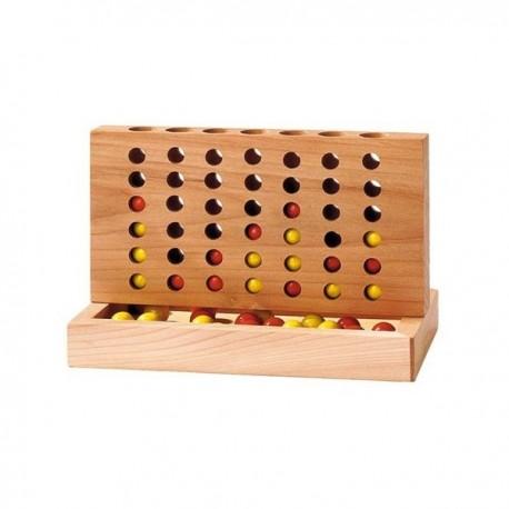 Quatre à la suite en bois, Goki 15,5 x 8,5 x 10 cm