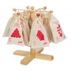 Casse tête en bois, Goki, sac en tissu