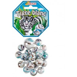 Billes tigre blanc + calot (x20)