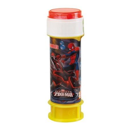 Bulle de savon 60 ml Spiderman, Marvel, souffleuse accrochée au couvercle, avec jeu sur le couvercle
