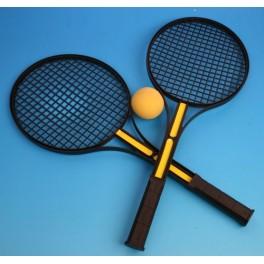 Raquette de tennis (x2) + balle mousse