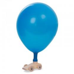 Voiture Ballon, en bois, 9 x 5 x 4 cm, vendu avec un ballon